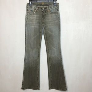 7 For All Mankind Gray Wash Boot Cut Jeans